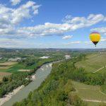 Hot air balloon tour in langhe