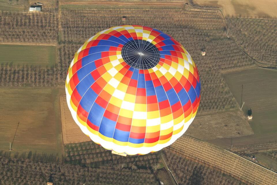 hot air balloon from top